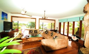 Loungeroom at Creek St River House Nambucca Heads River House Holiday rentals Nambucca Heads