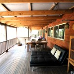 Sanctuary Bush to Beach House verandah - Nambucca Heads holiday rentals - holiday lettings. Mid North Coast accommodation near Valla Beach